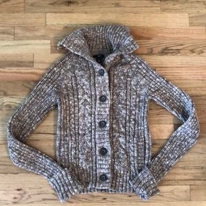 New gap cable knit sweater cardigan lined pockets